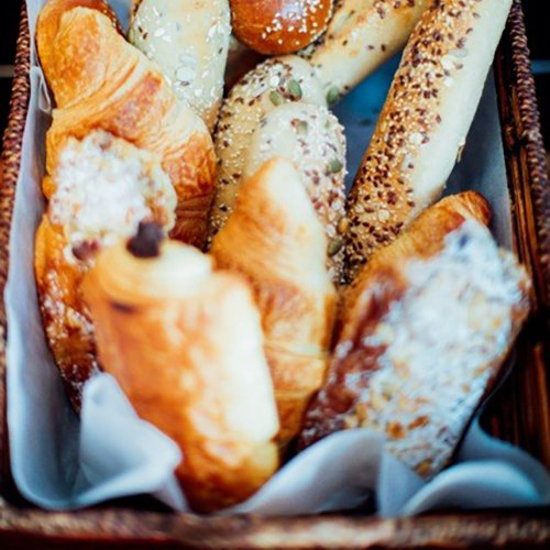 bru baguettes baked daily